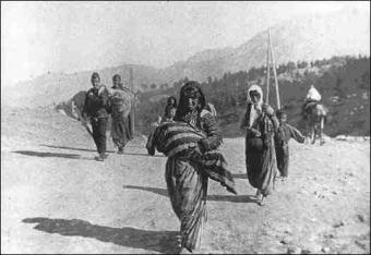 Armenian Deportees walking to Syria